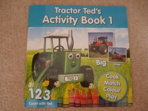 www.over40andamumtoone.wordpress.com Tractor Ted's Activity Book 1